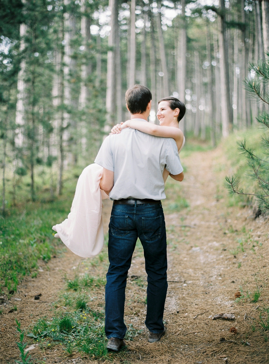 Claudia & Stefan - springtime engagement shoot in the woods - melanie nedelko photography