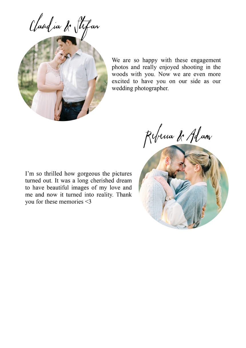 wedding testimonials - melanie nedelko wedding photographer from Austria, Vienna