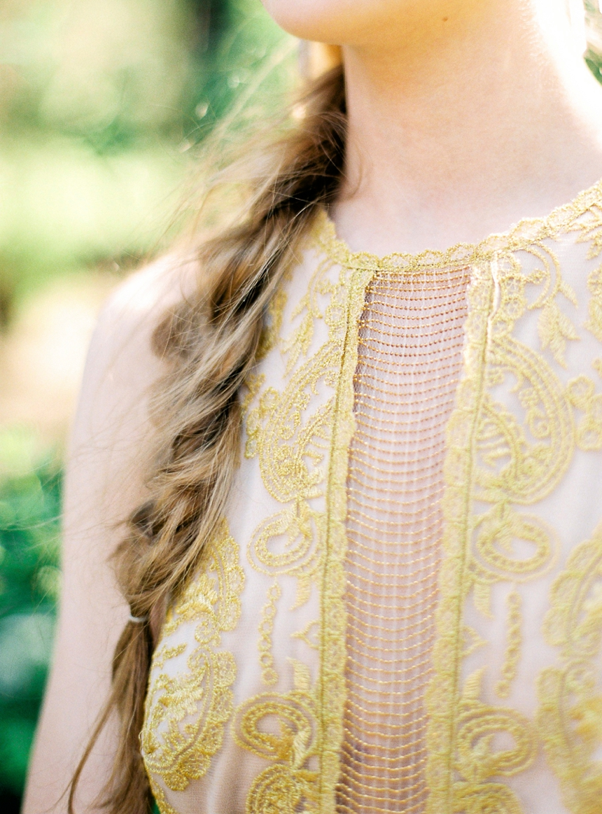 bridal details - gold , lace by melanie nedelko