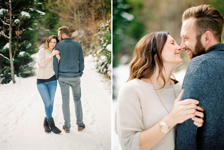 a snowy engagement at the Dobratsch by Melanie Nedelko fine art wedding photohrapher from Vienna , Austria