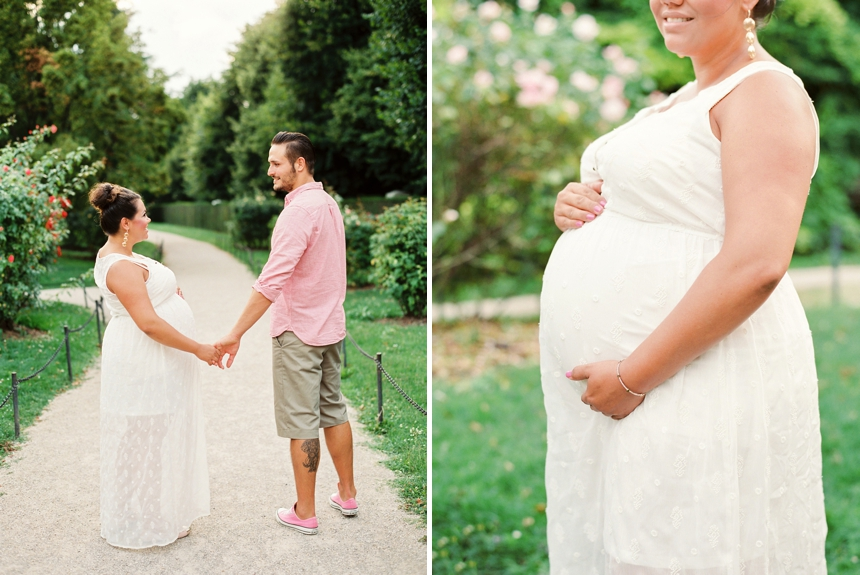 Maternity session at Schönbrunn Palace Vienna by Melanie Nedelko fine art wedding and portrait photographer Austria