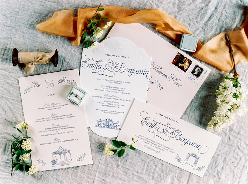Carissimo letterpress wedding stationery by Melanie Nedelko fine art wedding photographer