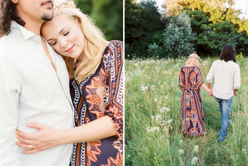 Maternity session in the fields