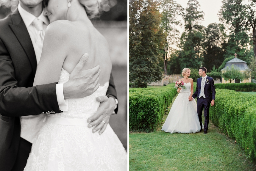 elegant wedding at Schloss Walpersdorf
