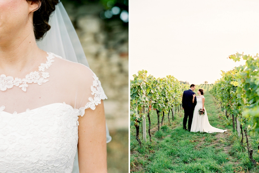 Fall wedding in the vineyards