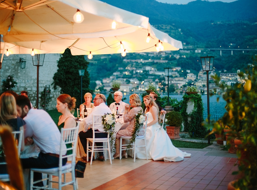 destination wedding Lake Iseo , Lombardy , outdoor reception