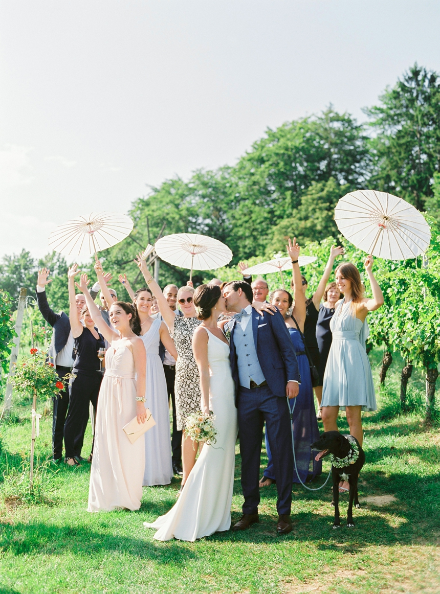 intimate summer vineyard wedding
