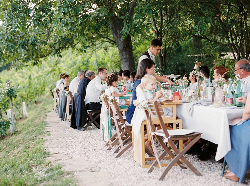 outdoor wedding dinner reception - vineyard wedding