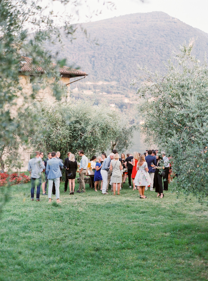 Rehearsal Dinner in the Olive Gardens of Castello Oldofredi
