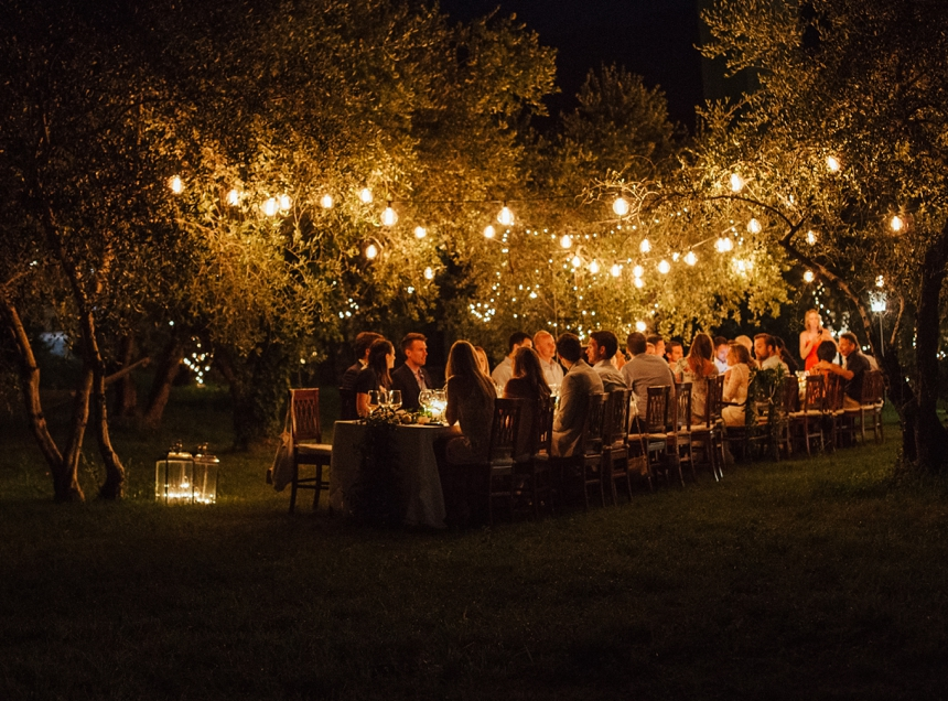 Rehearsal Dinner in the Olive Gardens of Castello Oldofredi , Destination wedding lake Iseo , Lombardy , Italy