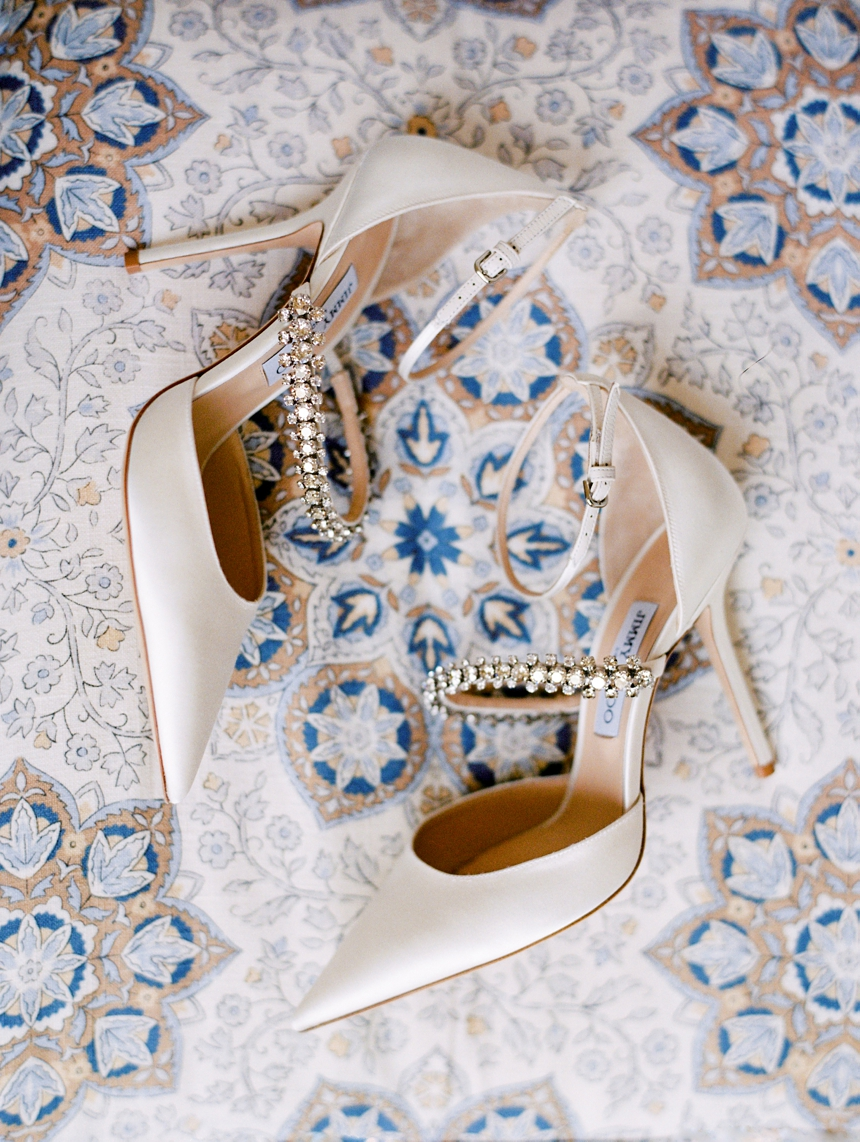 jimmy choo wedding heels © melanie nedelko