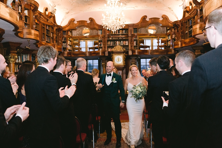 wedding ceremony old library leopoldskron castle © melanie nedelko