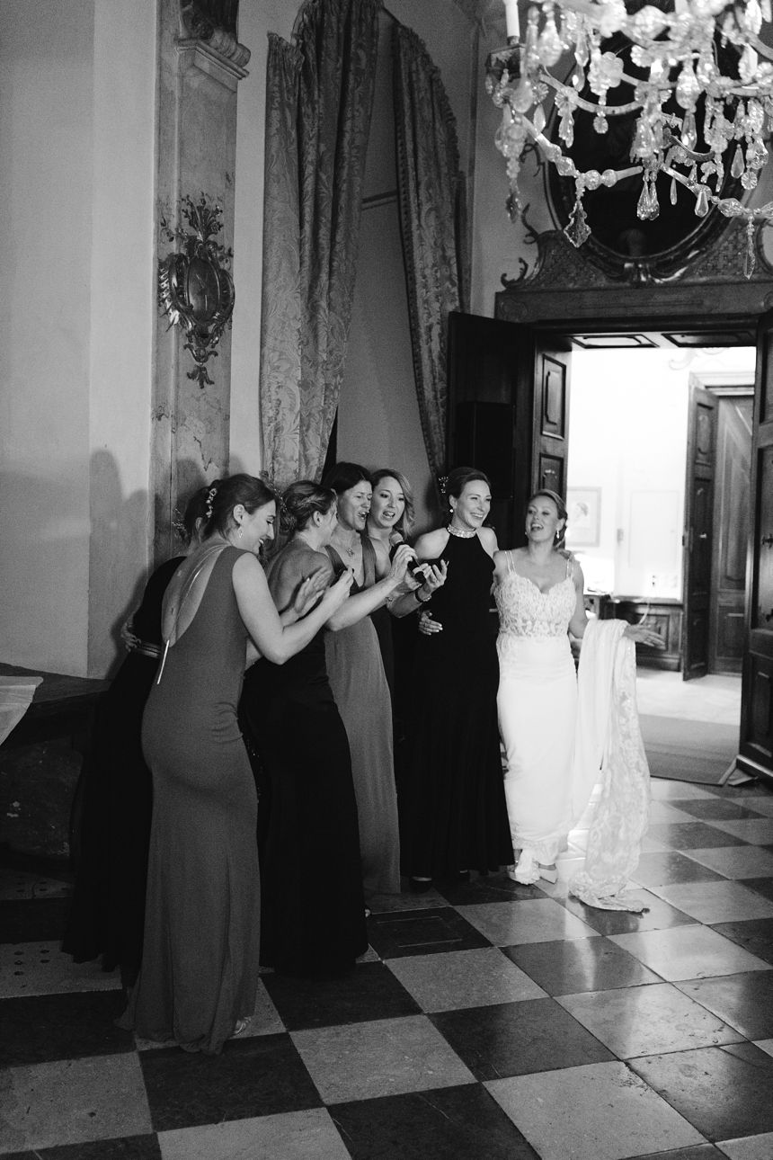 destination spring wedding at castle Leopoldskron
