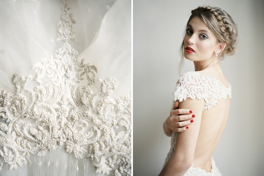 Christmas bride - baby its cold outside styled shoot by melanie nedelko and a very beloved wedding